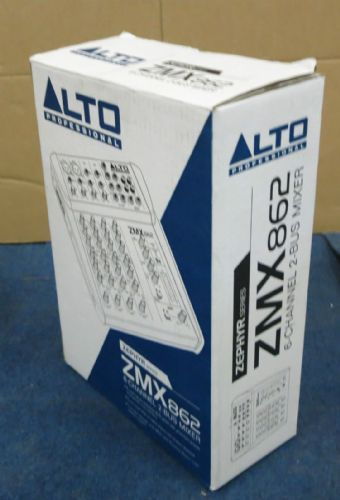 Alto Professional Zephyr Series ZMX862 6 Channel 2 Bus Mixer Studio 12 Input
